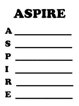 Aspire Testing Worksheets and Handouts - Aspire to Inspire