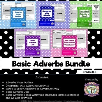 Basic Adverbs Bundle