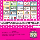 Student Reward Coupons for Classroom Prizes and Privileges