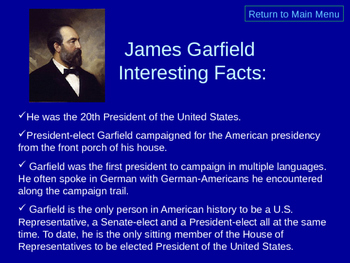 James Garfield Facts