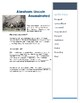Assassination of Abraham Lincoln - CLOZE reading