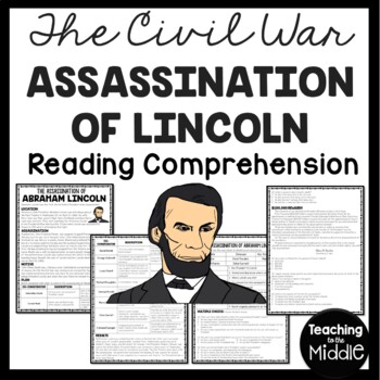 Assassination of Abraham Lincoln  Reading Comprehension Worksheet,  DBQ