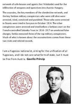 Assassination of Archduke Franz Ferdinand of Austria Handout
