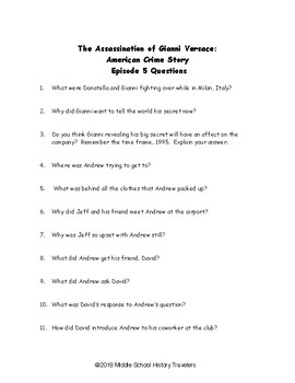 Assassination of Gianni Versace: American Crime Story Episode 5 Movie Questions