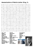 Assassination of Martin Luther King Word Search