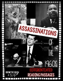 Assassinations of the 1960s Differentiated Reading Passages
