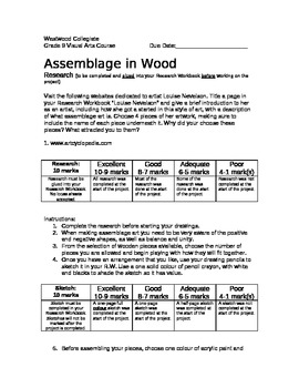 Assemblage in Wood