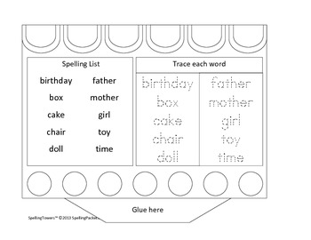 Assemble a birthday cakes while practicing 10 dolch words activity packet