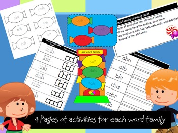 Assemble candy machines while learning word families - 580 page file!