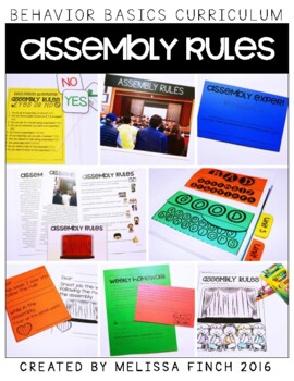 Assembly Rules- Behavior Basics Program for Special Education
