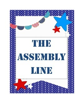Assembly line Lesson and activity
