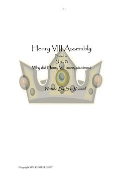 Assembly on Henry VIII and his Six Wives