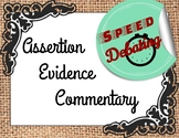 Assertion, Evidence, Commentary Writing Speed Debating