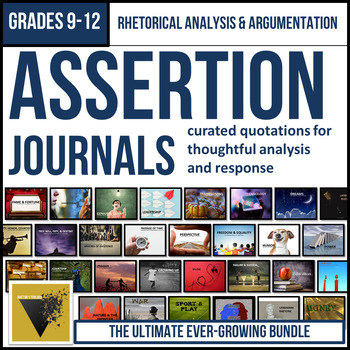 Assertion Journal ULTIMATE Bundle: Rhetorical Analysis and Argumentation