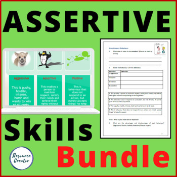 Assertive Communication Skills Powerpoint and Workbook