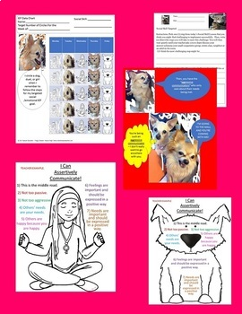 Assertive Communication Social Skill Rescue Dogs' Series  Autism/ODD/ID/ELD