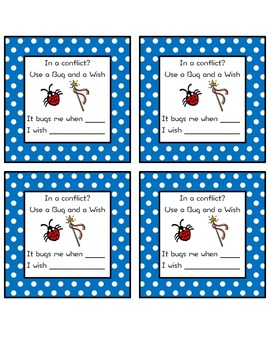 Bug and a Wish Conflict Resolution Cards