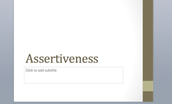 Assertiveness Powerpoint Based Discussion Lesson