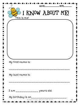 Assess Me! Back to School Assessments for Kindergarten and First Graders!