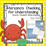Marzano Student Checking for Understanding --Ocean Theme