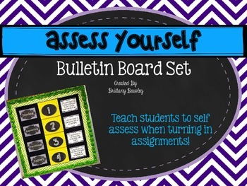 Assess Yourself Bulletin Board Set - Chalkboard and Chevron