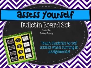 Assess Yourself Bulletin Board Set - Chalkboard and Chevron