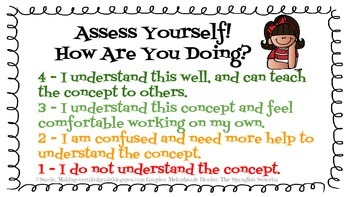 """Assess Yourself! How Are You Doing?"" Rubrics"