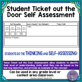 Student Ticket out the Door Self Reflection