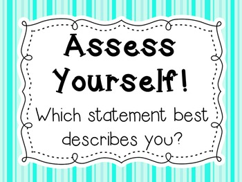 Assess Yourself Posters {FREEBIE}