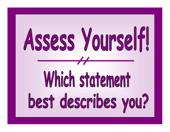 Assess Yourself Posters