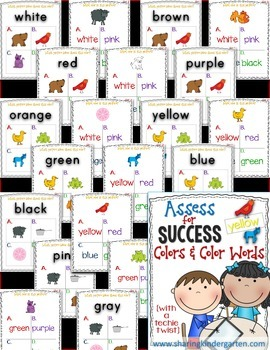 Assess for Success {Colors & Color Words}