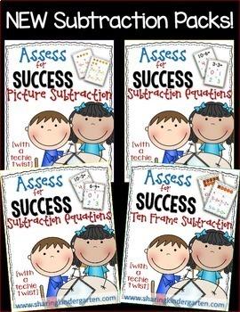 Assess for Success {Mini Subtraction Bundle}
