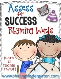 Assess for Success {Rhyming Words}