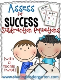 Assess for Success {Subtraction Equations with Number Lines}