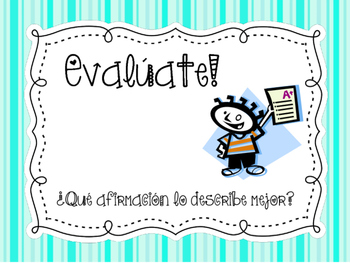 Assess yourself in spanish Evalúate español