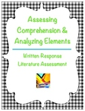 Assessing Comprehension, Analyzing Elements Written Response