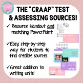 Assessing Sources Using The CRAAP Test