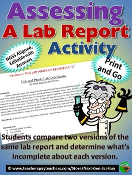 Assessing a Lab Report: Compare Versions of the Same Lab Report