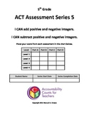Assessment - Adding/Subtracting Integers