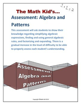 Assessment: Algebraic Expressions and Patterns