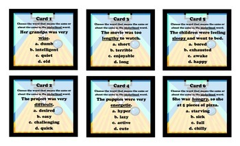 Assessment Alley Voc. and Word Analysis - Workstation Game