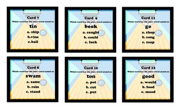 Assessment Alley Word Sounds - Workstation Game and IREAD Practice
