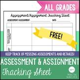 Assessment/Assignment Tracking Sheet