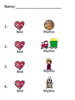 Assessment - Beat vs. Rhythm