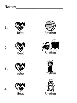 Assessment - Beat vs. Rhythm