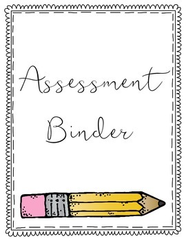 Assessment Binder Cover {FREEBIE}