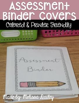 Assessment Binder Cover {FREEBIE}