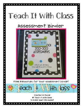 Assessment Binder {Freebie}