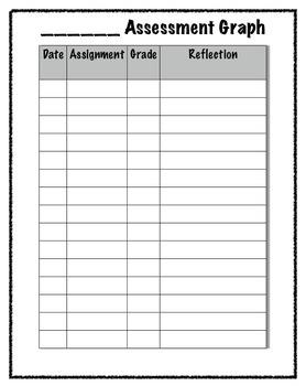 Assessment Binder Student Graph Reflection Chart