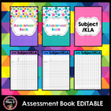 Assessment Book Editable